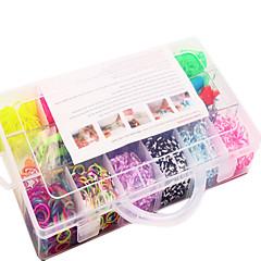 arco iris de colores kit de bandas telar 13 células familia de goma multicolor banda set (4200 unidades) y el conector