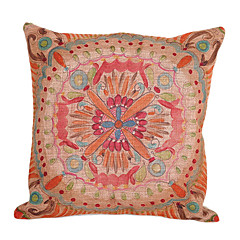 Cotton/Linen Pillow Cover / Pillow With Insert , Floral Country