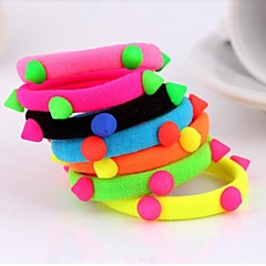 Rivet Fluorescent Colors Elastic Hair Ties