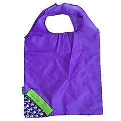 Eco-Friendly Blue Grape Design Folding Shopping Bag