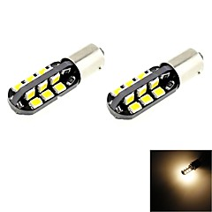 BA9S T4W 2.5W 24x2835 SMD LED 120lm 3000K Warm White Light Bulb for Car (DC 12V , 2-Pack)