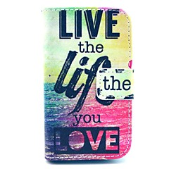 Live Life You Love Sea Pattern PU Leather Cover Case with Stand for Samsung Galaxy Fame S6810