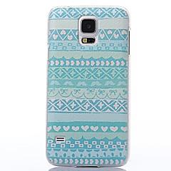 decorazione di colore a cinque punte custodia rigida stelle e cuori modello in plastica per Samsung i9600 s5