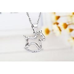 I FREE®Kid's Trojan Shape S925 Silver Pendant Necklace 1 pcs