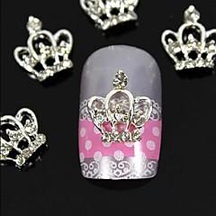 10pcs  3D DIY Rhinestones  Crown For Finger Tips  Alloy Nail Art Decoration