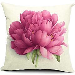 kwiat bawełny / Linen pokrycie dekoracyjne poduszki
