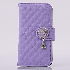 Multi-fonction Camellia Pendant PU Leather Full Body Case with Stand for iPhone 4/4S(Assorted Colors)