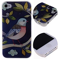 Cartoon Beautiful Birds Pattern Hard Case for iPhone 4/4S