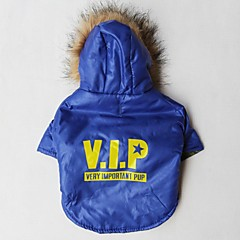 Cat / Dog Hoodie Blue Dog Clothes Winter Letter & Number