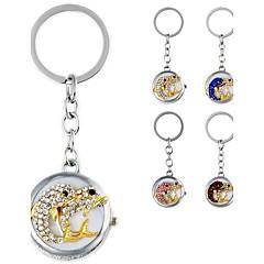 la mode en forme de dauphin pendentif en métal de femmes de diamant artificiel montre sac de porte-clés (1pc)