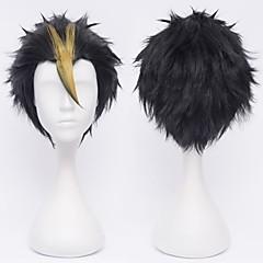 Haikyuu!Nishinoya Yuu Black Streaked Gold Cosplay Wig
