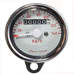 Motorcycle Dual Odometer Speedometer Gauge Test Miles Speed Meter