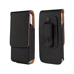 Solid Color PU Leather Case with Waist Clip  for iPhone 4/4S/5/5S/5C