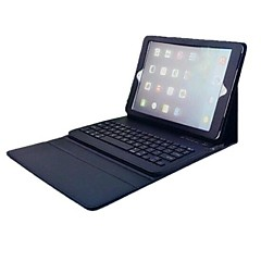pu lærveske bluetooth tastatur for ipad luft (svart)
