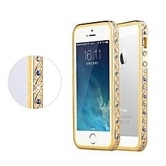 Shengo ™ cristal de luxe de style strass incrustés avec insert TPU protection pare-chocs en métal pour iphone 5/5 ans (de pare-chocs d'or)