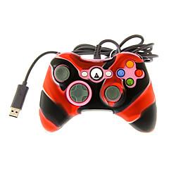 controlador dual shock por cable con cubierta de piel de silicona para Xbox 360