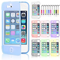VORMOR® Screen Touch TPU Case & Touch Pen for iPhone 4/4S (Assorted Colors)