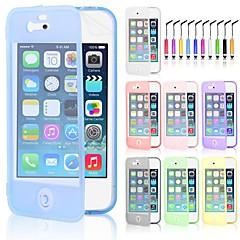 caso del tacto de la pantalla del tpu& pluma del tacto para el iphone 5 / 5s (colores surtidos)