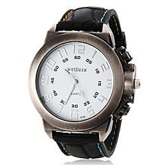mænds enkelt runde dial elastik kvarts analog sport ur (assorterede farver)