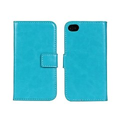Crystal Surface Pattern PU Leather Full Body Case with Stand and Card Slot for iphone4/4S  (Assorted Colors)