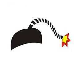 personalidad creativa logo coche bomba pegatinas