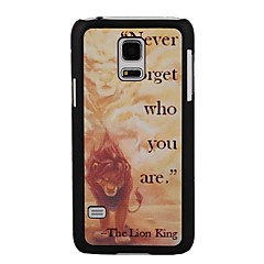 Elonbo The Lion King Style Hard Back Case Cover for Samsung Galaxy S5 Mini