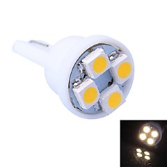 T10 4W 120LM 4x3528 SMD LED Cool/Warm Light for Car Dashboard/Door/Trunk Lamps (DC 12V,, 1Pcs)