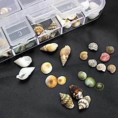 100PCS Mix Shapes Natural Shell Accessories Not Include Box 3D Nail Art Decoration