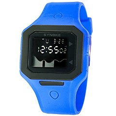 quadrado Dial banda de silicone multifuncional dos homens levou pulso esportes relógio à prova d'água 50m (cores sortidas)