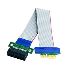 0.2m 0.6ft PCI-E Express 1X Slot Riser Card Extender Extension Ribbon Flex Relocate Cable Free Shipping