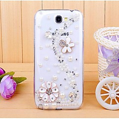 Diamant Blütenblatt der rückseitigen Abdeckung für Samsung Galaxy Note N7100 2