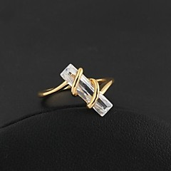 Women's Fashion Unique Design 18K Gold Zircon Ring