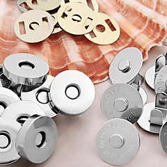 Round-Shaped Alloy Purse/Bags Magnetic Clasp Sliver(10Sets)