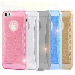 läpinäkyvä hohtava jauhe silikoni takakannen iPhone 5 / 5s (valikoituja väriä)