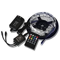 5M 300x5050 SMD Music Light Strips RGB Flexible LED Light Strips +  20key Music Remote Control + 2A Power  (AC110-240V)
