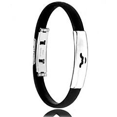 mäns mode personlighet titan stål silikon tolv stjärnbilden Oxen armband