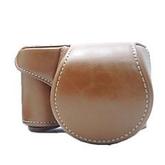 dengpin® Schutz abnehmbares Leder Kameratasche mit Schultergurt für Sony Alpha a6000 ILCE-6000l