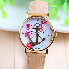 Women's Fashion Style Rose Gold Dial PU Band Quartz Analog Wrist Watch (Assorted Colors) Cool Watches Unique Watches