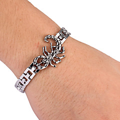 Fashion Scorpion Shape Men's Silver Alloy Tennis Bracelet(1 Pc)