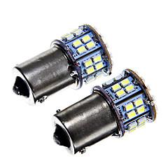 1156 6W 50x1210 SMD luz branca levou lâmpada para lâmpada de freio do carro (12V 2pcs)