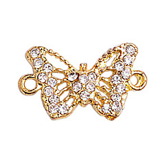 Alloy Gold Plated Hollow Butterfly Connectors for Bracelet