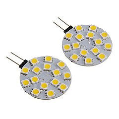 G4 2.5W 15x5050SMD 180-210LM Warm White/White Light LED Spot Bulb (12V 2PCS)