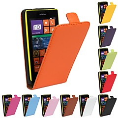 Solid Color Pattern Genuine Leather Full Body Case for Nokia Lumia 520