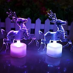Christmas Reindeer Acrylic Colorful LED Nightlight
