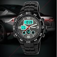 Men's Tough Design Multifunctional Analog-Digital Steel Band Wrist Watch