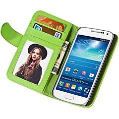 portefeuille de PU doux au toucher étui en cuir pour les mini i9190 samsung galaxy