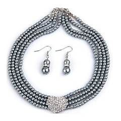 Jewelry-Necklaces / Earrings(Alloy / Glass)Party / Daily Wedding Gifts