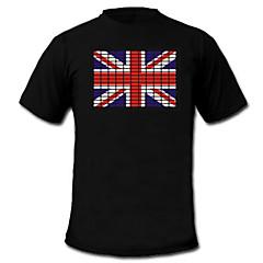 LED t-paidat Ääniaktivoidut LED valot Tekstiili Kansallinen lippu 2 AAA paristot
