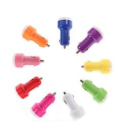 cigare double USB chargeur de voiture pour iPhone 4 / 4S / 5/5 s et autres (couleurs assorties)