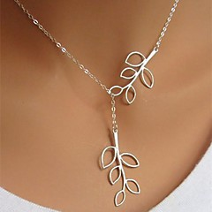Women's European Fashion Leaves  Alloy Skinny Pendant Necklace (1 Pc)